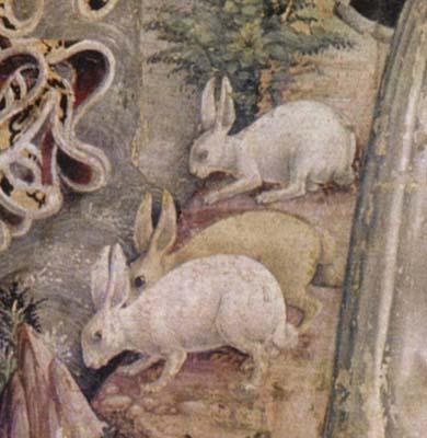 Detail drei Hasen