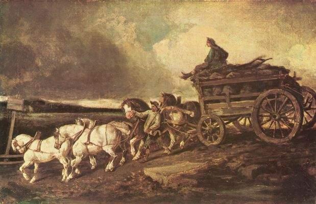 Kohlenwagen von Gericault