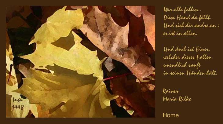 Onlinekunstde Herbstlyrik Inga Schnekenburger Rainer