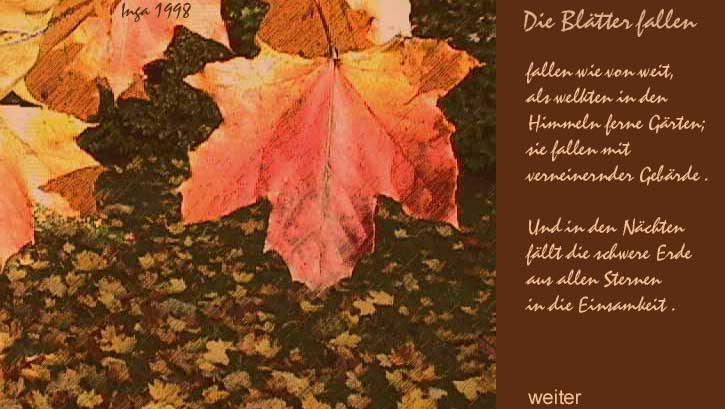 Rilke gedichte fallende blatter