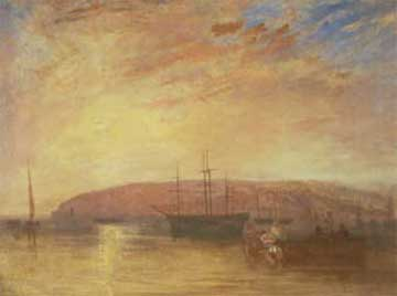 Abbildung: William Turner, Shipping off East Cowes Headland (Isle of Wight) 1827