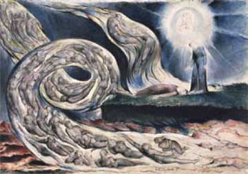 Abbildung: William Blake, The Circle of the Lustful (The Whirlwind of Lovers), 1824-7