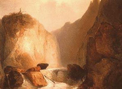 Gemälde »Felspalte« von Adalbert Stifter