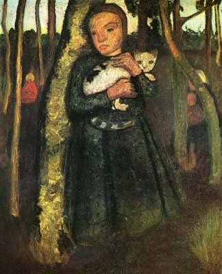 Elsbeth Expressionismus Mädchen Garten Paula Modersohn-Becker Kunst A3 159