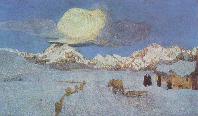 Giovanni Segantini: Vergehen, Musée de St-Moritz
